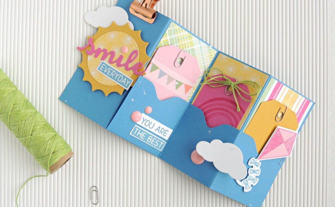 How to Make a One-Sheet  3-Pocket Mini Card