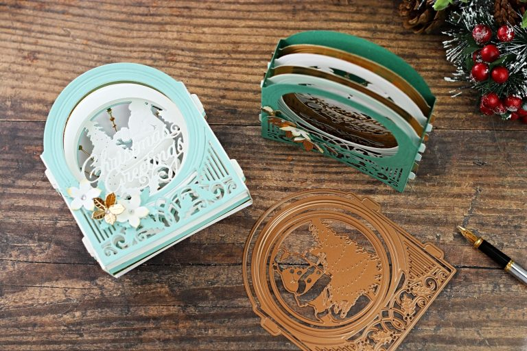 Spellbinders 3D Holiday Vignettes Collection by Becca Feeken - Inspiration   Holiday Vignettes with Bibi Cameron