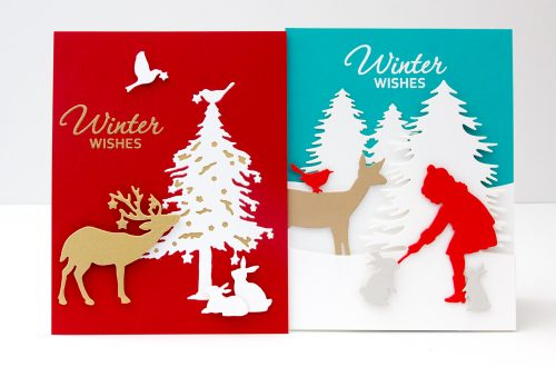 Spellbinders Sharyn Sowell Holiday 2019 Inspiration   Clean & Simple Cards with Jean Manis