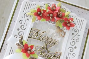 Spellbinders 3D Holiday Vignettes Collection by Becca Feeken - Inspiration | Layered Christmas Cards with Hussena Calcuttawala