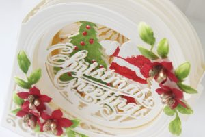 Spellbinders 3D Holiday Vignettes Collection by Becca Feeken - Inspiration   Layered Christmas Cards with Hussena Calcuttawala