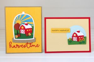 Spellbinders Scenic Snapshots Collection Inspiration | Harvest & Christmas Cards by Jean Manis