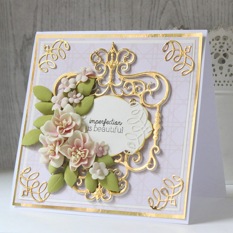 Spellbinders Candlewick Sampler Collection by Becca Feeken - Inspiration | Layered Card Ideas with Hussena Calcuttawala