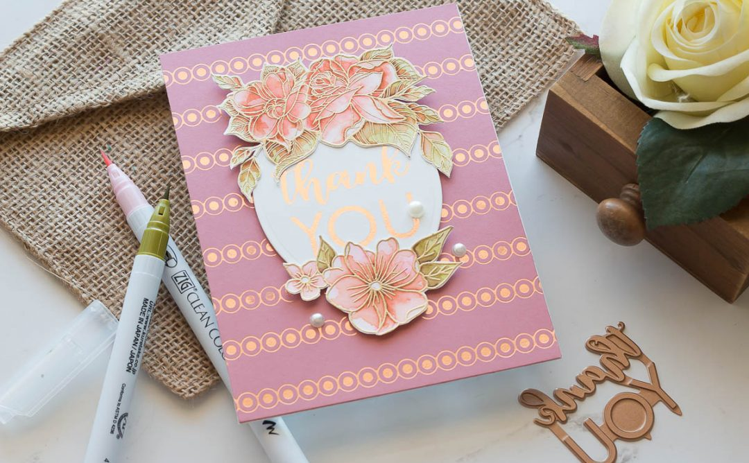 October 2019 Glimmer Plates Inspiration | Beautifully Foiled Cards with Marie