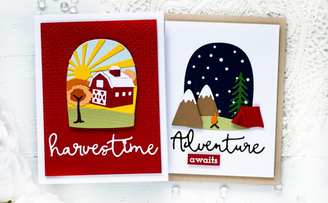 Scenic Snapshots Collection Inspiration | Seasonal Cards with Svitlana Shayevich