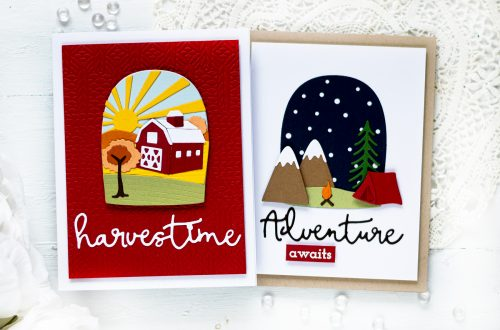 Spellbinders Scenic Snapshots Collection Inspiration   Seasonal Cards with Svitlana Shayevich