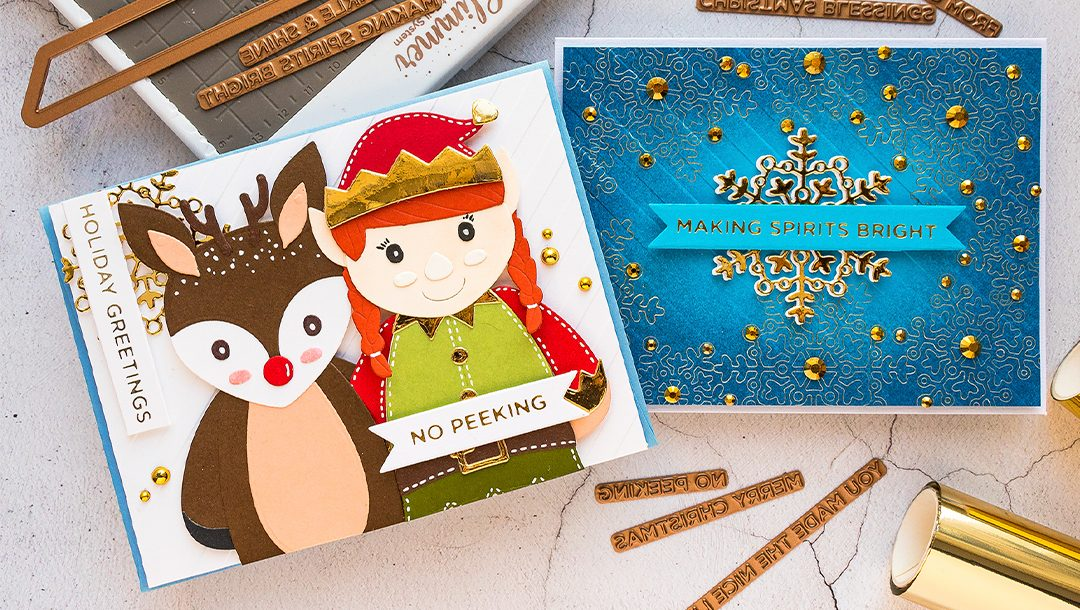 November 2019 Glimmer Hot Foil Kit of the Month is Here – Shimmering Merry Christmas Sentiments