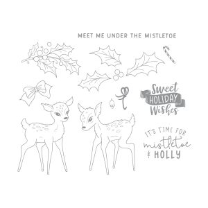 November 2019 Stamp of the Month is Here - Mistletoe & Holly