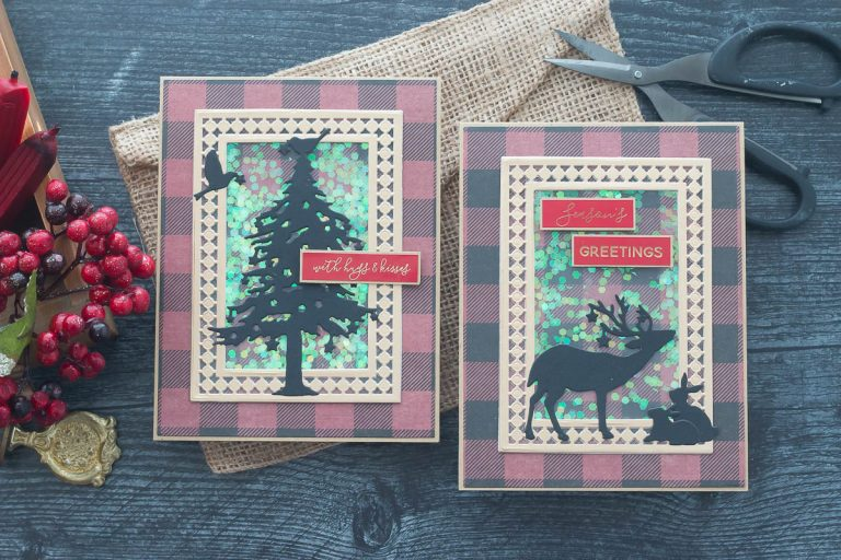 Spellbinders Candlewick Classics Collection by Becca Feeken - Inspiration | Christmas Shaker Cards with Marie Nicole