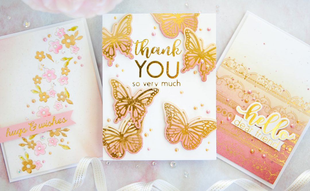 October 2019 Glimmer Plates Inspiration | Foiling & Ink Blending with Keeway