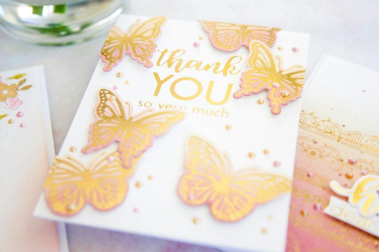 Spellbinders October 2019 Glimmer Plates Inspiration | Foiling & Ink Blending with Keeway Tsao #GlimmerHotFoilSystem #Spellbinders