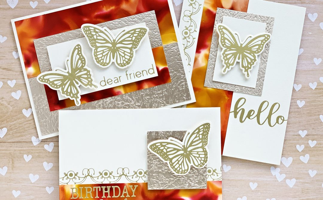 October 2019 Glimmer Plates Inspiration | Autumn Card Trio with Niki