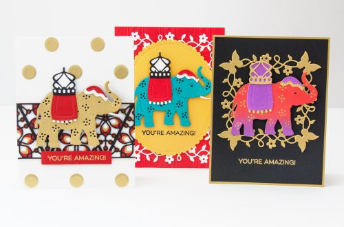 Spellbinders Die D-Lites Inspiration | Elephant Festival Cards with Jean Manis