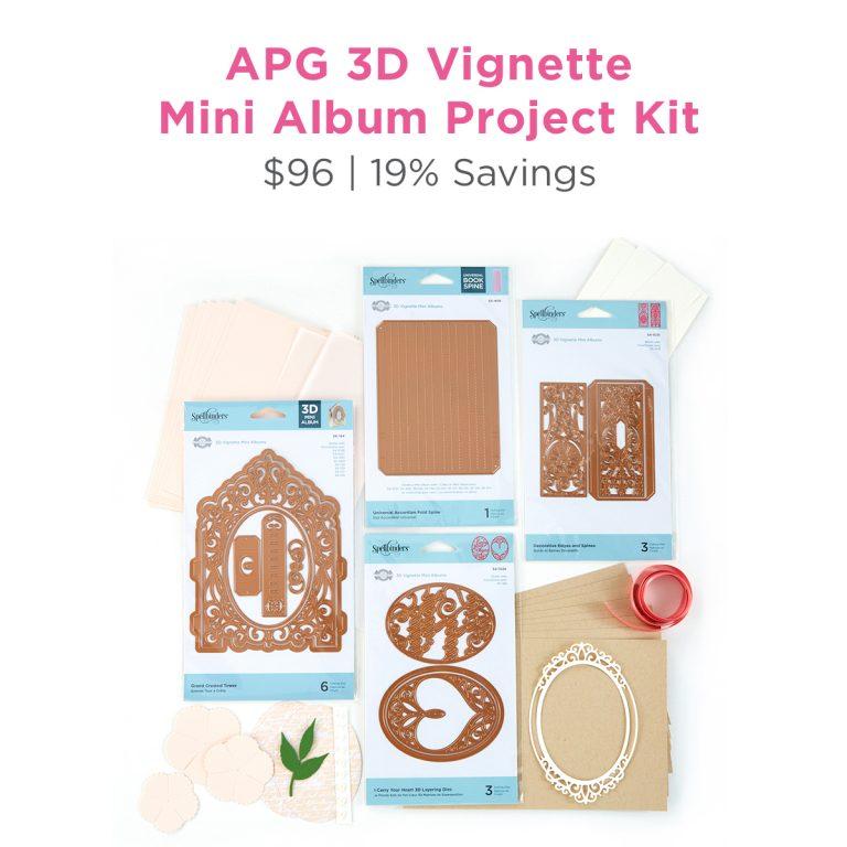 Spellbinders Amazing Paper Grace 3D Vignette Mini Album Project Kit is Here!