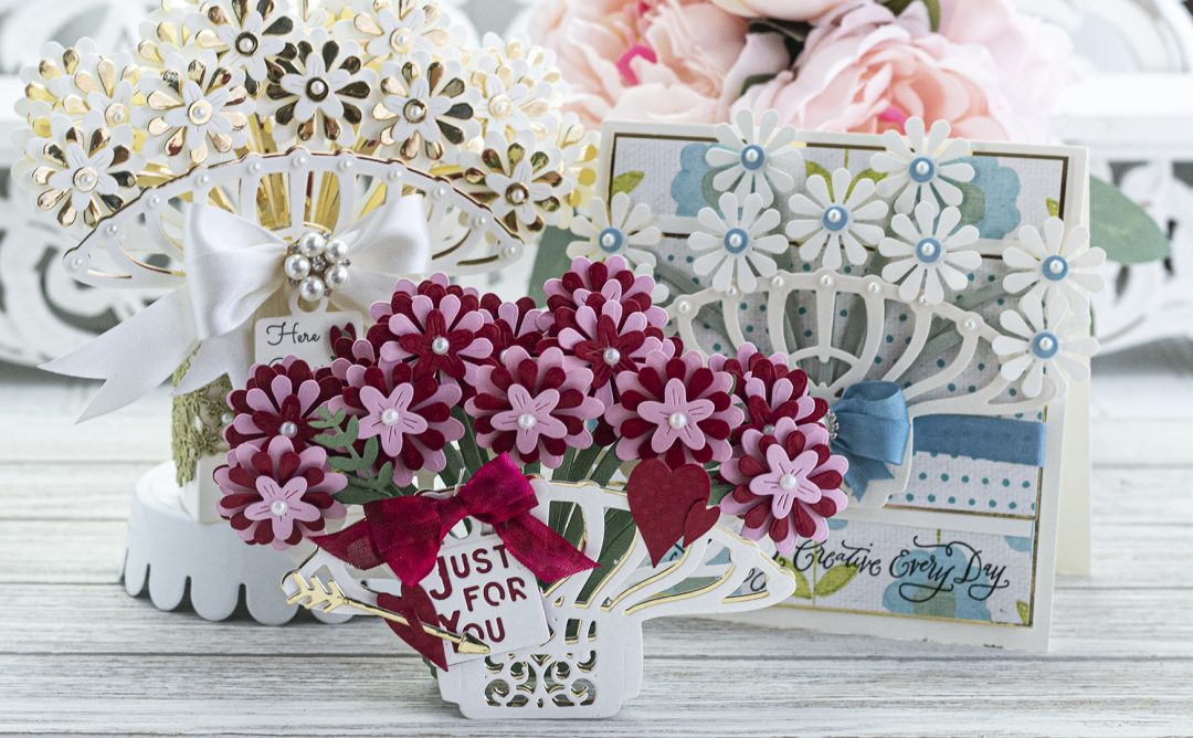 January 2020 Amazing Paper Grace Die of the Month is Here – Pop Up 3D Vignette Bouquet
