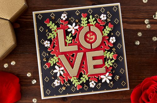 Spellbinders January 2020 Small Die of the Month is Here – Bold Love #SpellbindersClubKits #NeverStopMaking