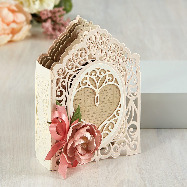 Spellbinders Amazing Paper Grace 3D Vignette Mini Album Project Kit is Here! Love Mini Album