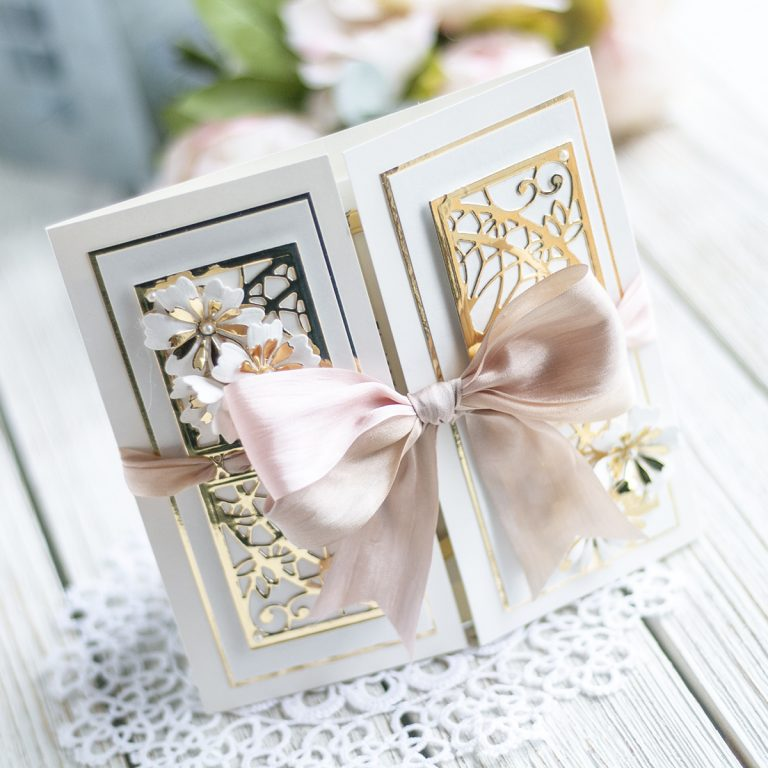 Spellbinders February 2020 Amazing Paper Grace Die of the Month is Here – Elegant Reveal Shutter Card