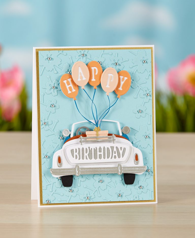 Spellbinders - The Cutting Edge Project Kit! Happy Birthday Card
