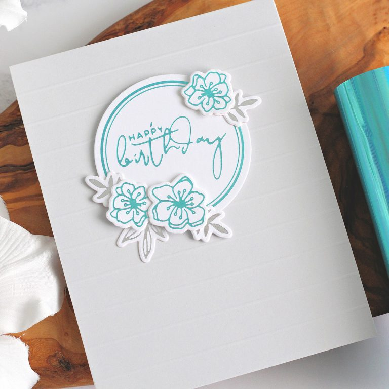 Spellbinders Yana's Foiled Basics collection by Yana Smakula | Clean & Simple Foiled Cardmaking with Michelle Short | Video tutorial #YSFoiledBasics #GlimmerHotFoilSystem #Spellbinders #HotFoiling