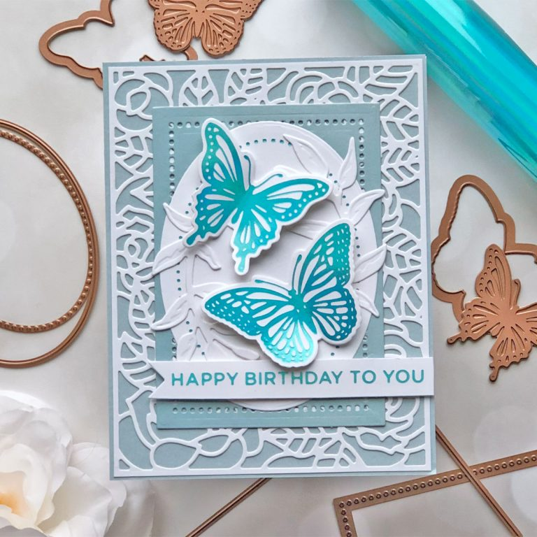 Spellbinders Modern Essentials Collection - Inspiration | Hot Foiled Card with Brenda #Spellbinders #NeverStopMaking #GlimmerHotFoilSystem #HotFoiling