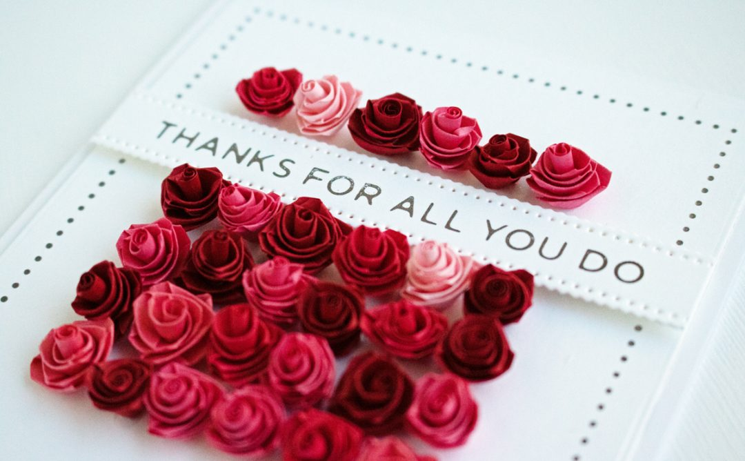 Modern Essentials Inspiration | Quilled Thank You Card Trio with Niki