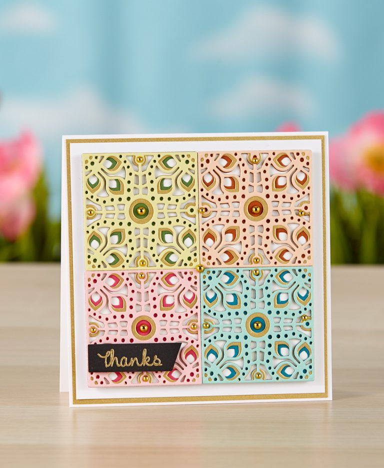 Spellbinders - The Cutting Edge Project Kit! Kaleidoscope Thank You Card