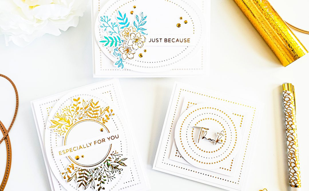 Modern Essentials Inspiration | Clean & Simple Foiled Cards with Yasmin