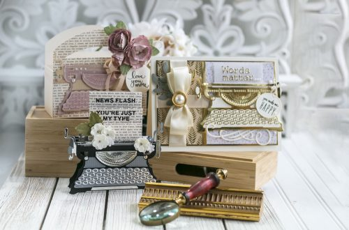 April 2020 Amazing Paper Grace Die of the Month is Here – Pop Up 3D Vignette Typewriter #Spellbinders #NeverStopMaking #SpellbindersClubKits