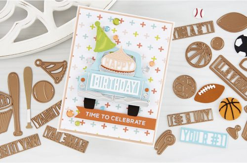 Spellbinders April 2020 Large Die of the Month is Here – Happy Celebrations #Spellbinders #NeverStopMaking #SpellbindersClubKits