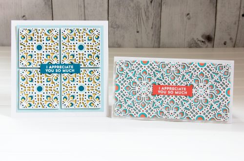 Spellbinders Kaleidoscope Patterns with Jean Manis featuring Kaleidoscope Tile Etched Dies #Spellbinders #NeverStopMaking #DieCutting