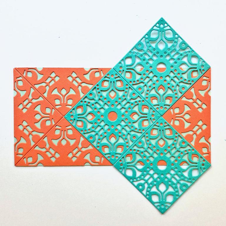 Spellbinders Kaleidoscope Patterns with Jean Manis featuring Kaleidoscope Tile Etched Dies #Spellbinders #NeverStopMaking #DieCutting
