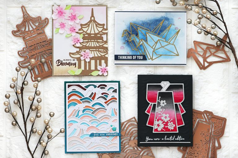 Spellbinders Destinations Japan Collection by Lene Lok - Inspiration | Handmade Cards by TaeEun #Spellbinders #NeverStopMaking #DieCutting