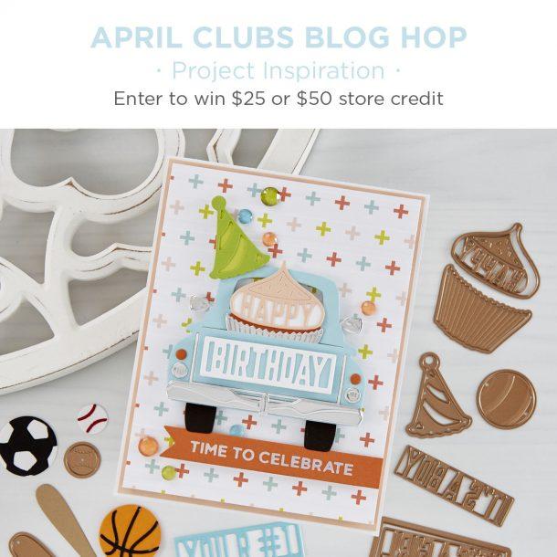 Spellbinders April 2020 Clubs Inspiration Blog Hop + Giveaways