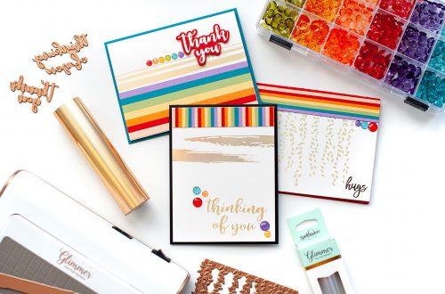 Spellbinders - The Effortless Greetings Project Kit   Inspiration with Lea Lawson   Video tutorial #Spellbinders #NeverStopMaking #GlimmerHotFoilSystem #Cardmaking