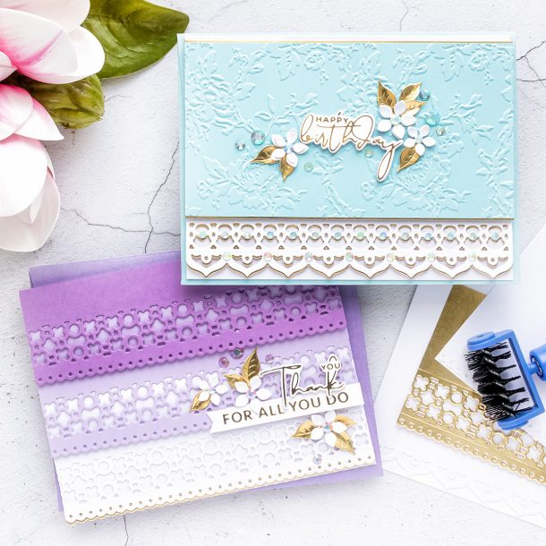 Spellbinders May 2020 Small Die of the Month is Here – Stacked Decorative Edges #Spellbinders #SpellbindersClubKits #NeverStopMaking