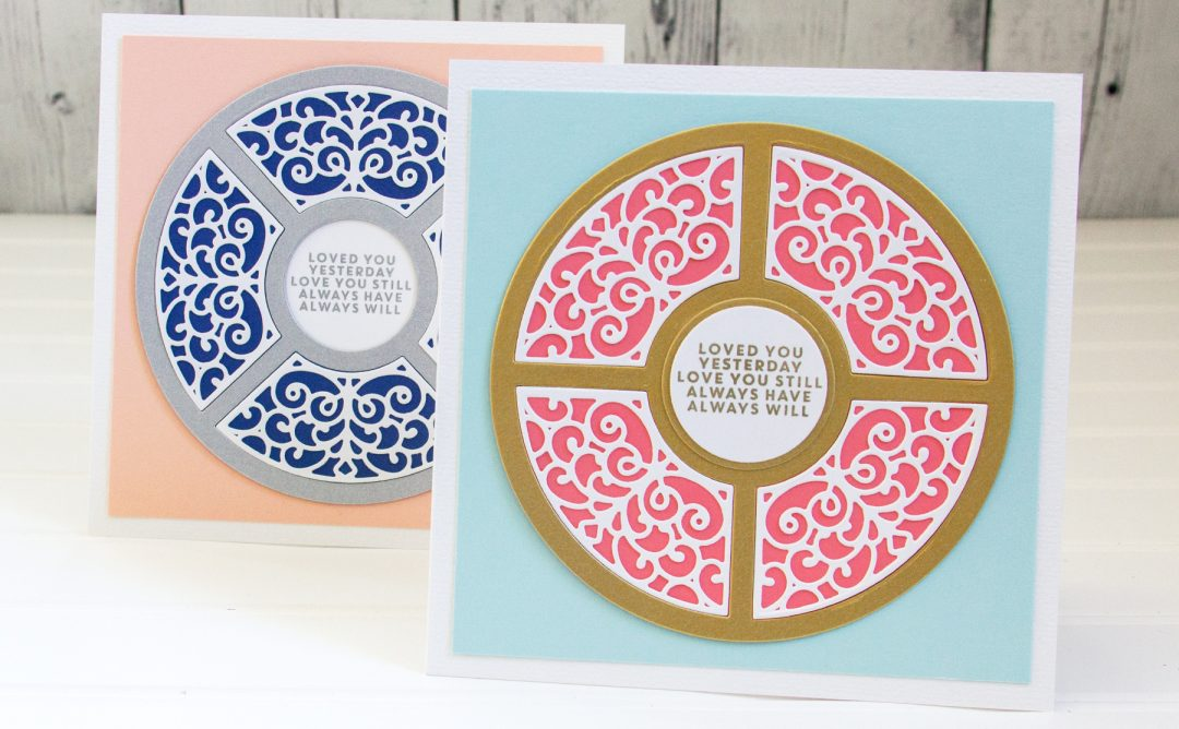 Elegant Simplicity - Circlet Doily Cards with Jean Manis featuring Spellbinders Dimensional Doily Collection by Becca Feeken #Spellbinders #AmazingPaperGrace #DieCutting #Cardmaking