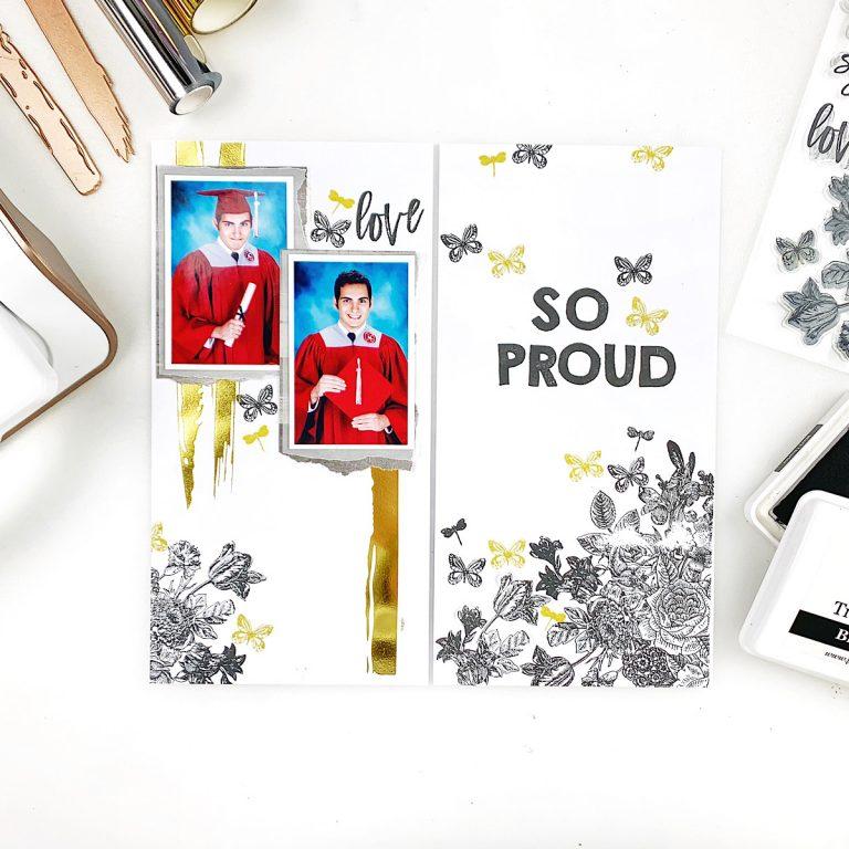 The Effortless Greetings Project Kit | Planner Inspiration with Heba Alsibai | Video tutorial #Spellbinders #NeverStopMaking #GlimmerHotFoilSystem