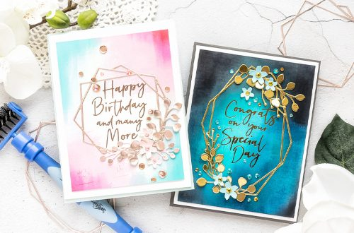Spellbinders June 2020 Large Die of the Month is Here – Geometrical Floral Frames #Spellbinders #NeverStopMaking #DieCutting #Cardmaking