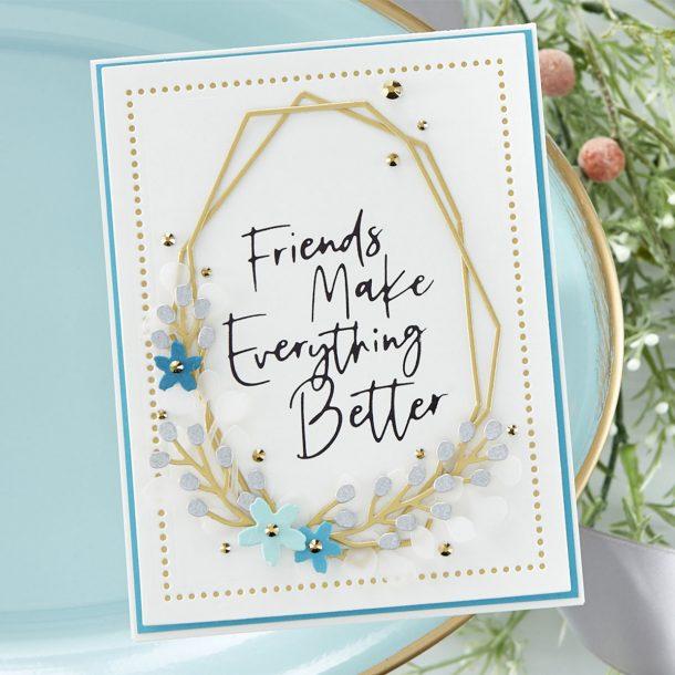 Spellbinders June 2020 Large Die of the Month is Here – Geometrical Floral Frames #Spellbinders #NeverStopMaking #DieCutting #Cardmaking