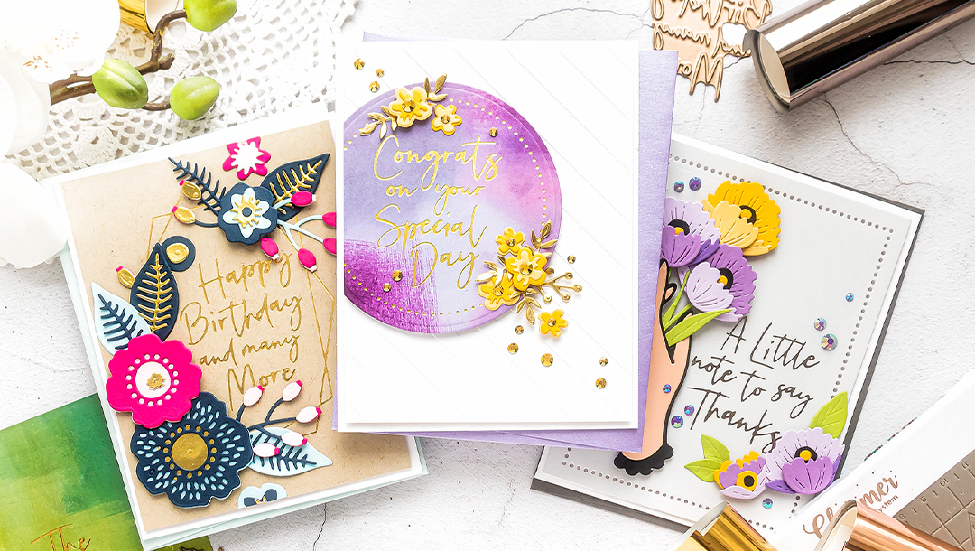 Spellbinders June 2020 Glimmer Hot Foil Kit of the Month is Here – Let Your Sentiments Shine #Spellbinders #NeverStopMaking #GlimmerHotFoilSystem #Cardmaking