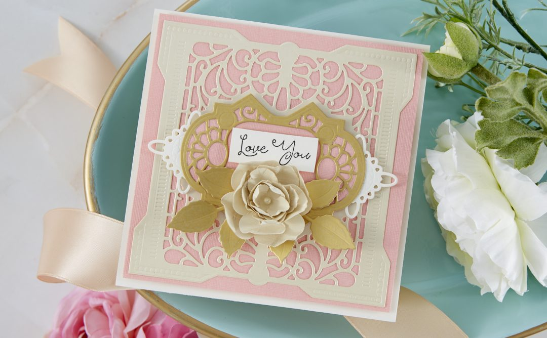 Cardmaking Inspiration | Love You Card Featuring Antiquities Square with Kim Kesti