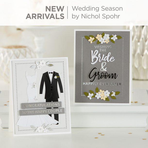 Spellbinders Wedding Season Collection by Nichol Spohr - Inspiration #Spellbinders #NeverStopMaking #DieCutting #Cardmaking