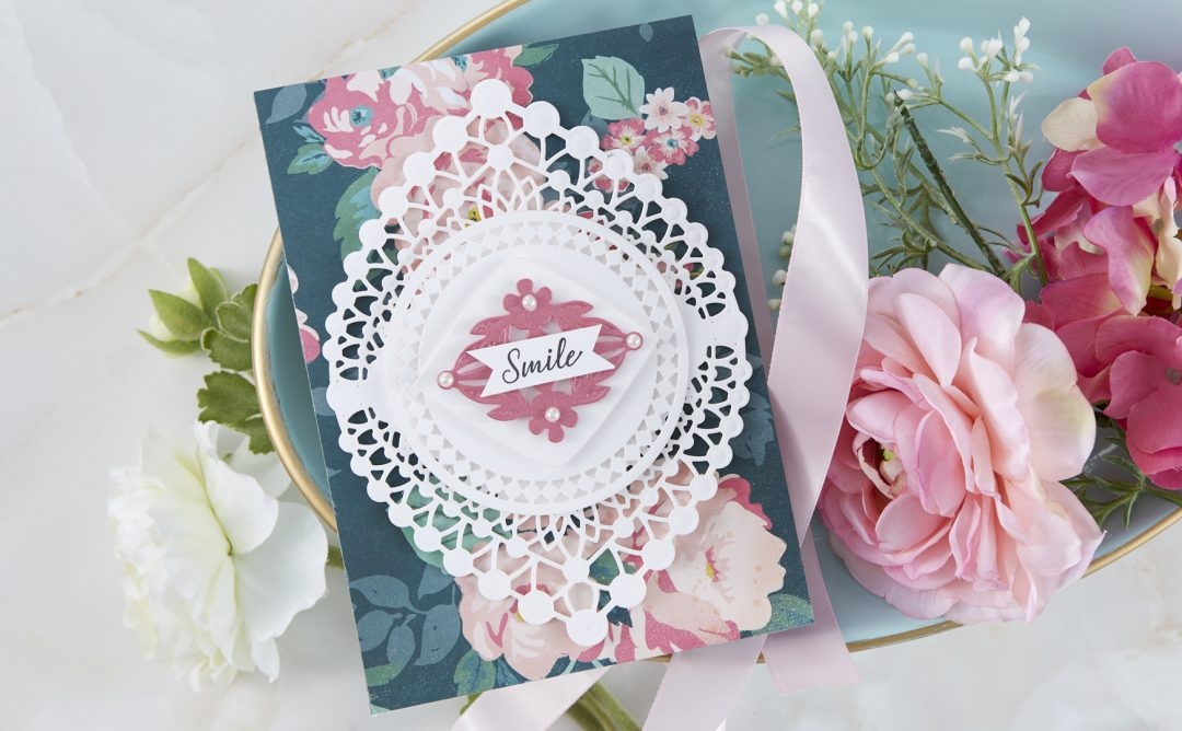 Cardmaking Inspiration | Smile Card Featuring Nobel Chatelaine with Kim Kesti
