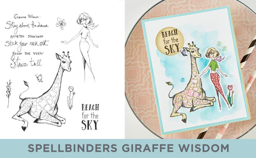 Cardmaking Inspiration | Reach for the Sky Card Featuring Giraffe Wisdom with Kim Kesti