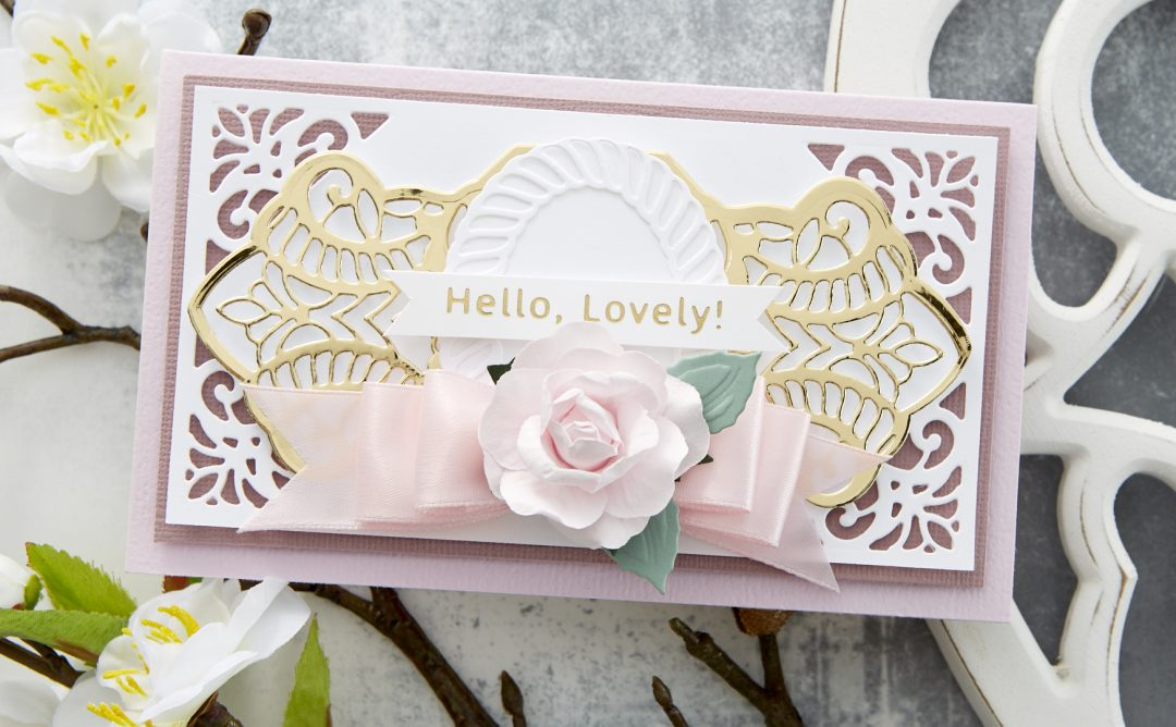 Cardmaking Inspiration | Hello, Lovely! Card Featuring Elegant Twist Splendid Trilliant by Becca Feeken
