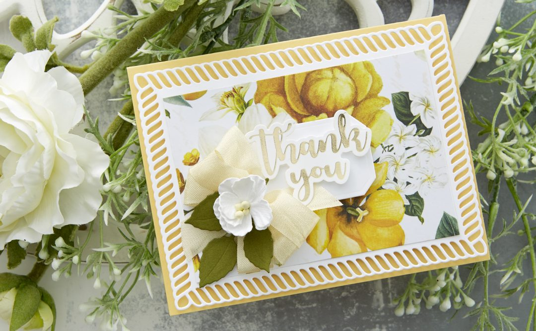 Cardmaking Inspiration | Thank You Card Featuring Elegant Twist Rectangles by Becca Feeken