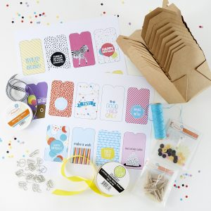 FSJ Delivered Bundles: Hello Delivered & Love Delivered Kits   Deliver the perfect goody bag with this fun kit! Fill these charming boxes with cookies, popcorn, toys or anything your heart desires. Simply add one of our pre-designed tags and deliver to the doorstep of your family, friends and neighbors. #NeverStopMaking
