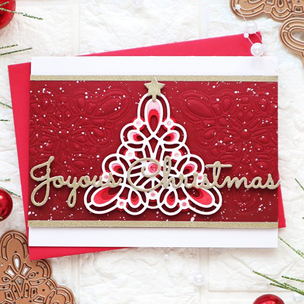 Spellbinders Sparkling Christmas 2020 Collection - Cardmaking Inspiration with TaeEun Yoo #spellbinders #NeverStopMaking #cardmaking #diecutting