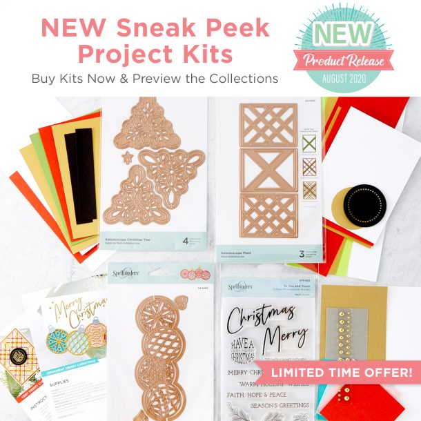 Spellbinders Warm Holiday Wishes Project Kit is Here! #Spellbinders #NeverStopMaking #DieCutting #Cardmaking #ChristmasCardmaking